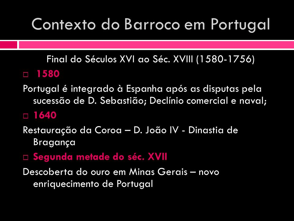 Contexto do Barroco em Portugal