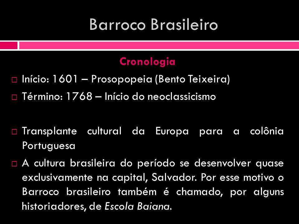 Barroco Brasileiro Cronologia