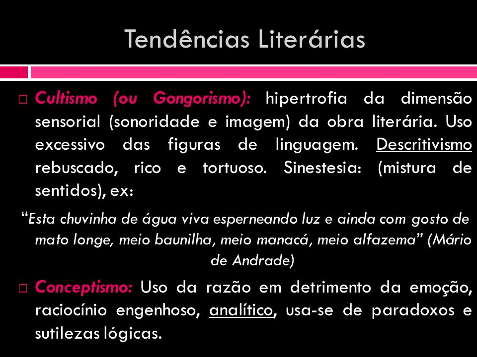 Tendências Literárias