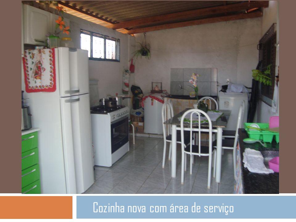 Cozinha nova com área de serviço
