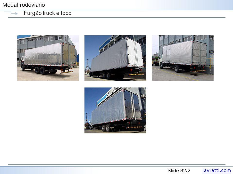 Furgão truck e toco