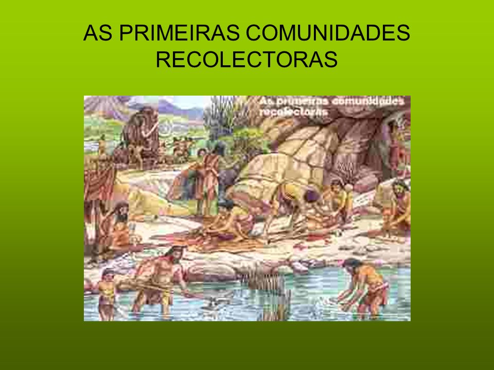 AS PRIMEIRAS COMUNIDADES RECOLECTORAS
