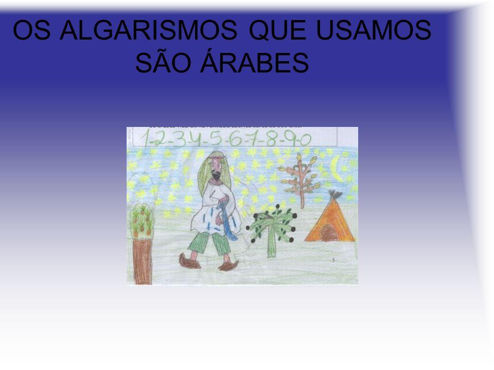 OS ALGARISMOS QUE USAMOS SÃO ÁRABES