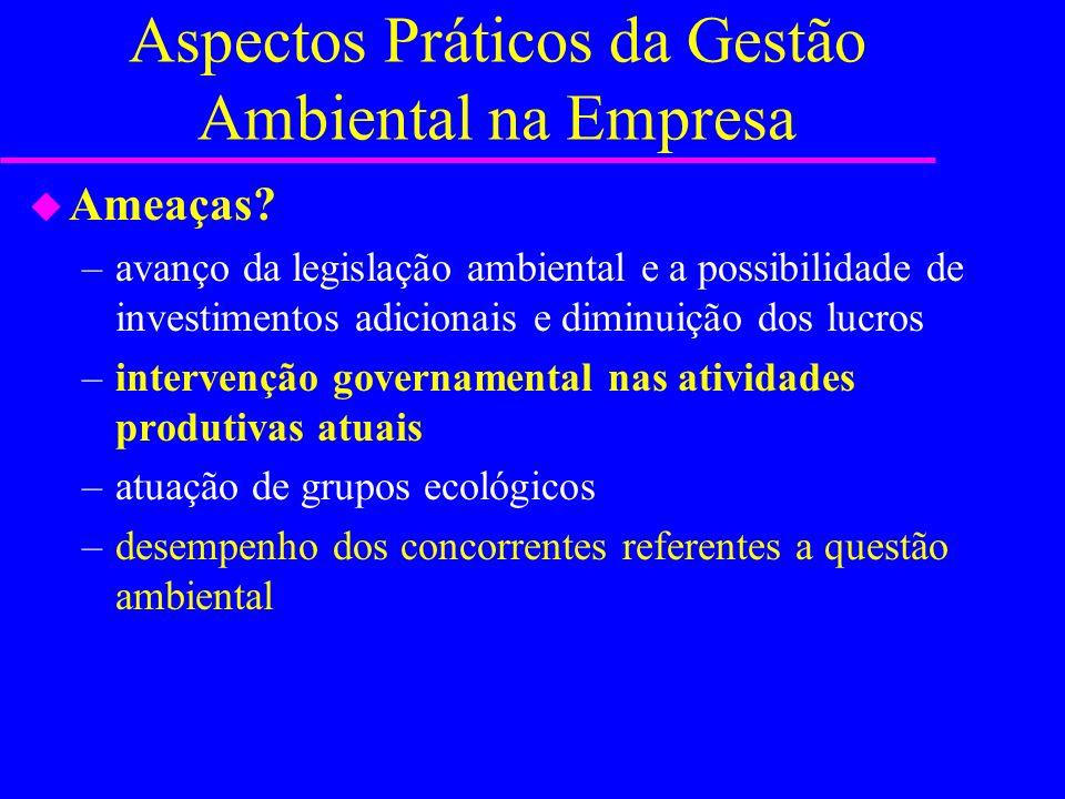 Aspectos Práticos da Gestão Ambiental na Empresa