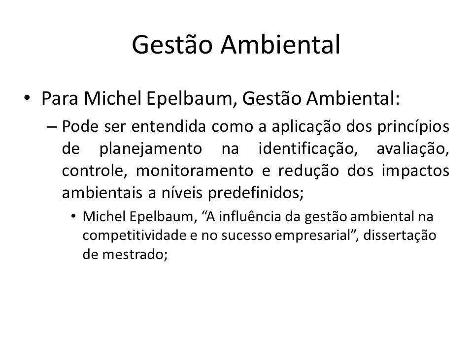 Gestão Ambiental Para Michel Epelbaum, Gestão Ambiental: