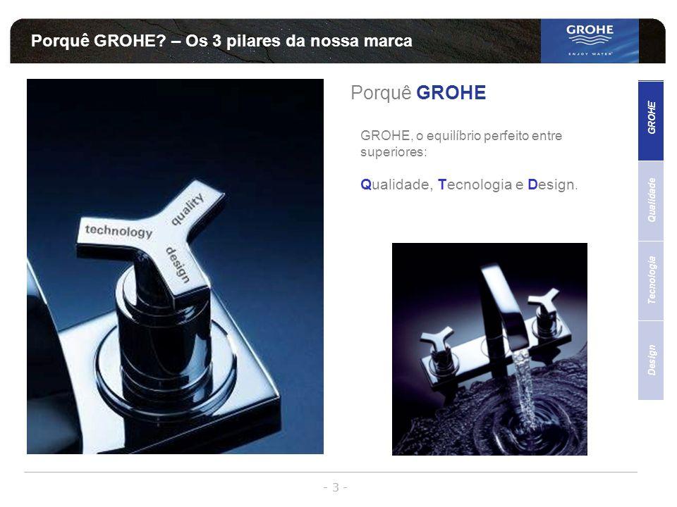 Porquê GROHE – Os 3 pilares da nossa marca