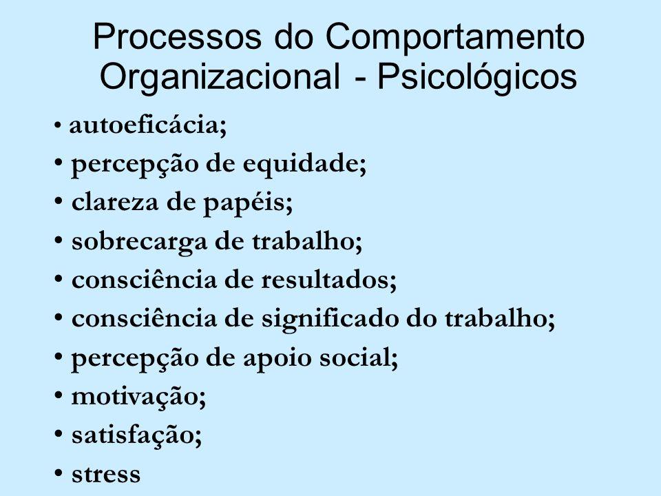 Processos do Comportamento Organizacional - Psicológicos