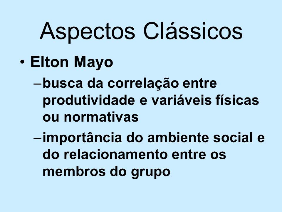Aspectos Clássicos Elton Mayo