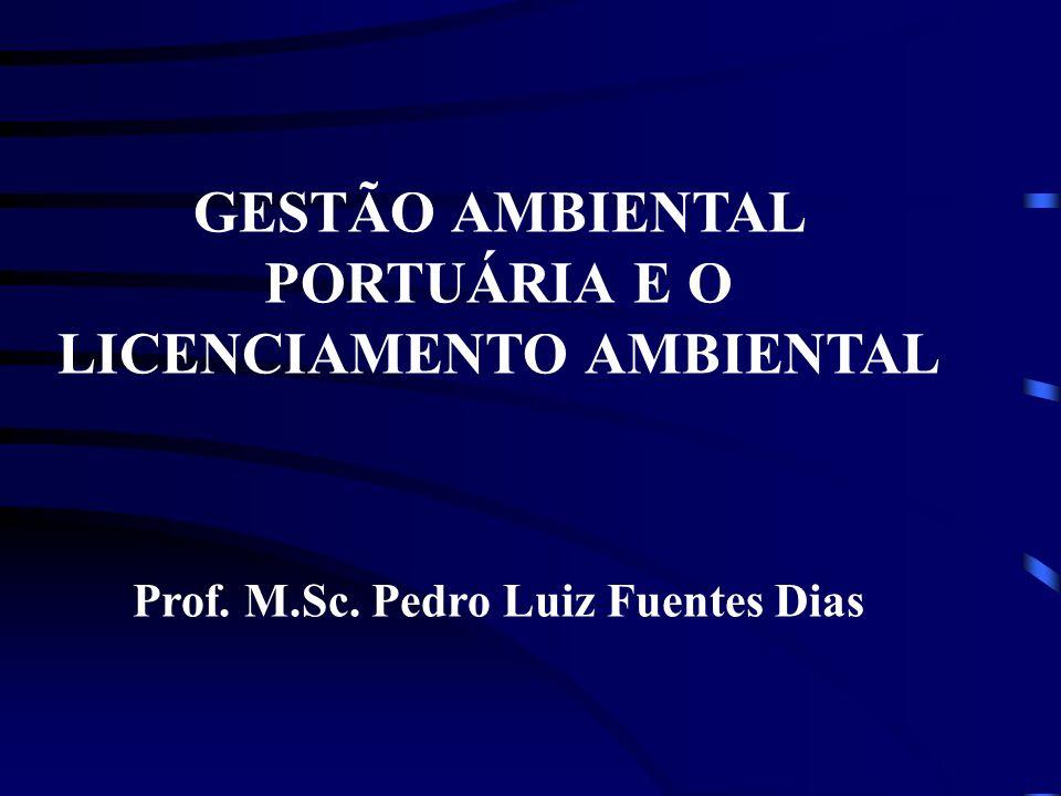 Prof. M.Sc. Pedro Luiz Fuentes Dias