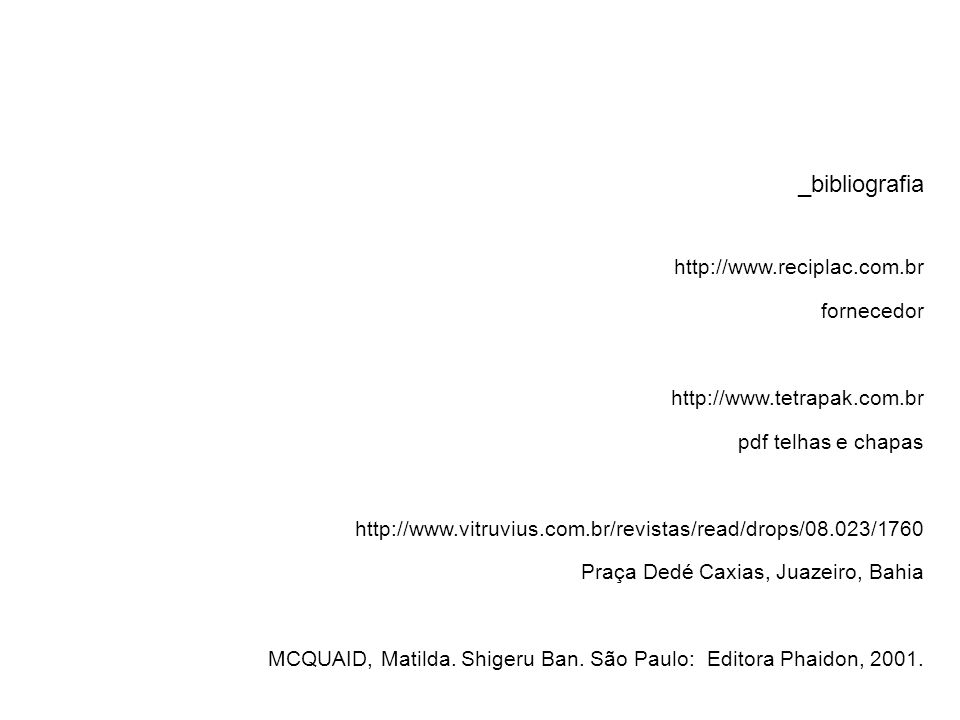 _bibliografia http://www.reciplac.com.br fornecedor