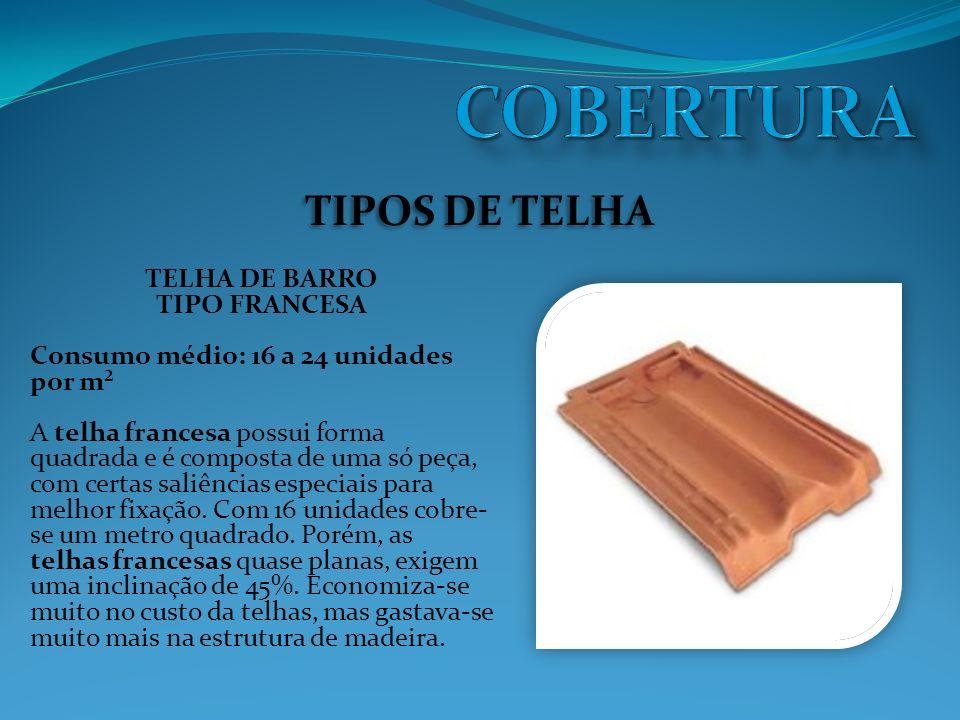COBERTURA TIPOS DE TELHA TELHA DE BARRO TIPO FRANCESA