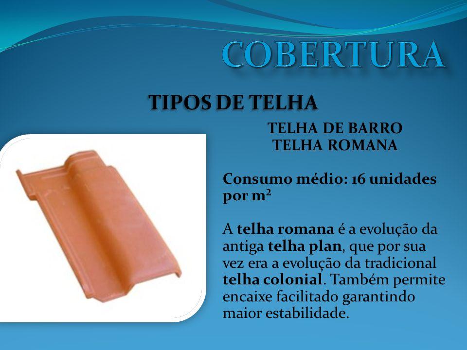 COBERTURA TIPOS DE TELHA TELHA DE BARRO TELHA ROMANA
