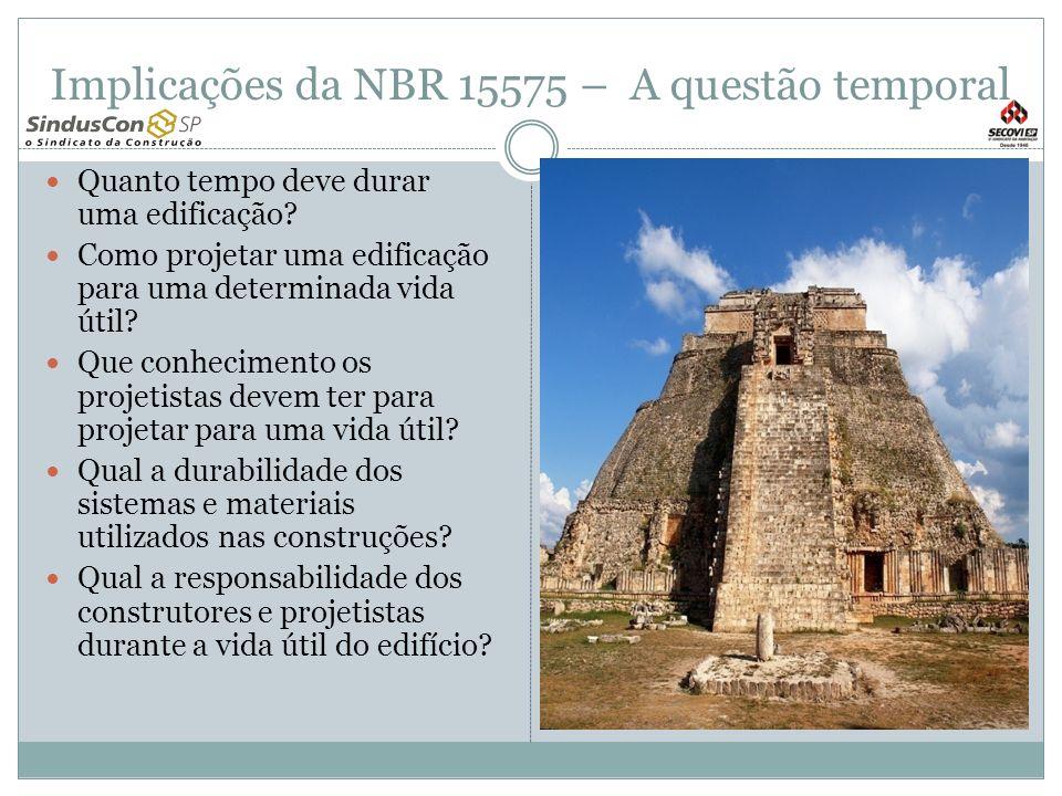Implicações da NBR 15575 – A questão temporal