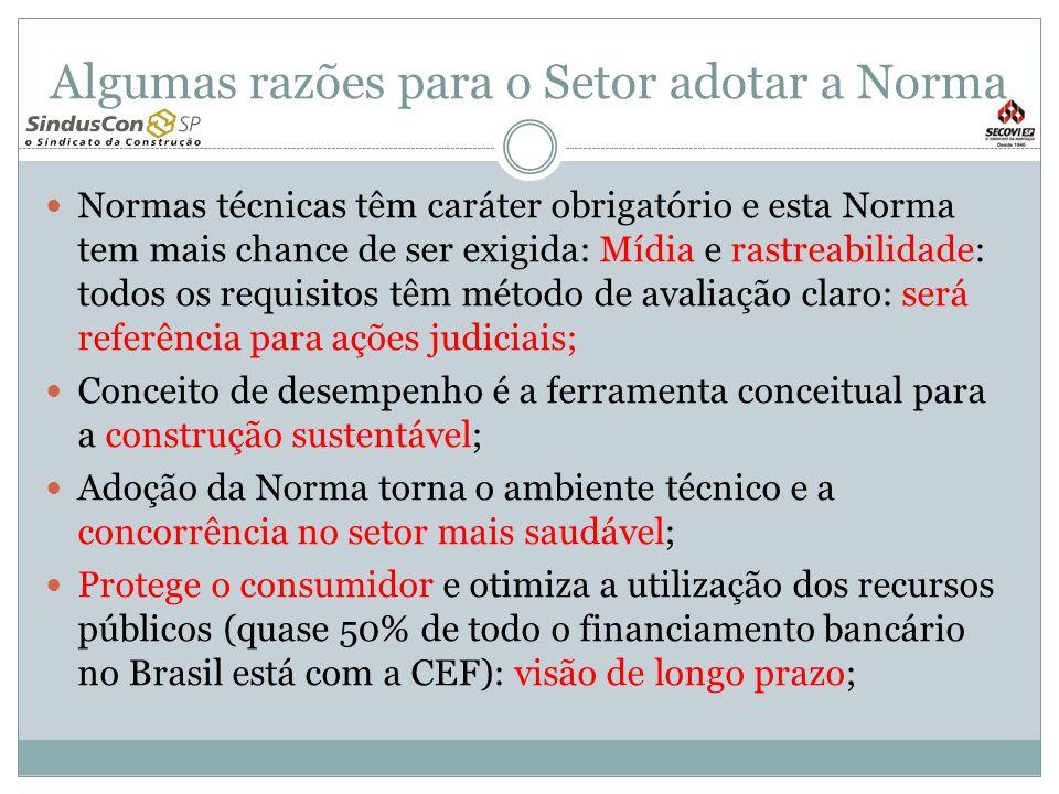 Algumas razões para o Setor adotar a Norma