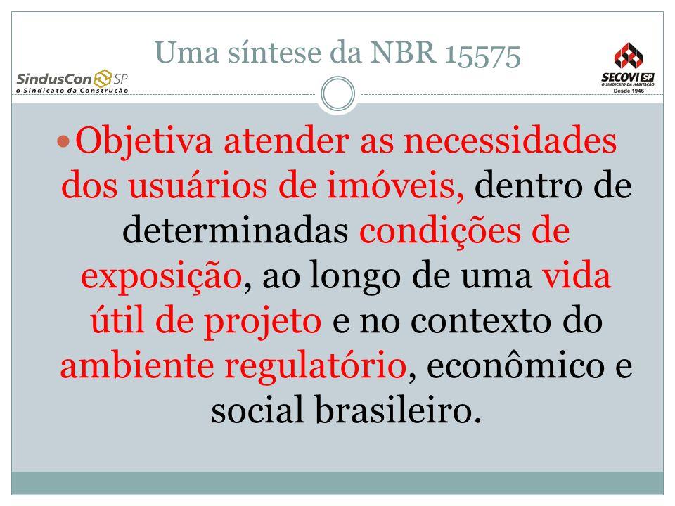 Uma síntese da NBR 15575