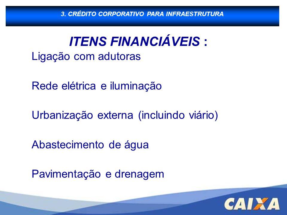 3. CRÉDITO CORPORATIVO PARA INFRAESTRUTURA