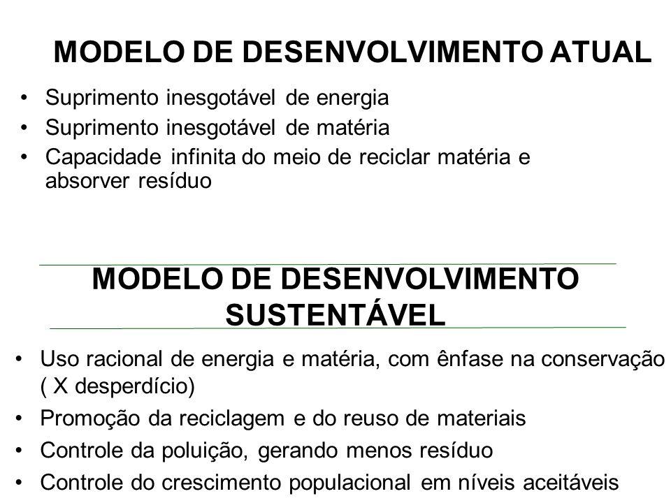 MODELO DE DESENVOLVIMENTO ATUAL