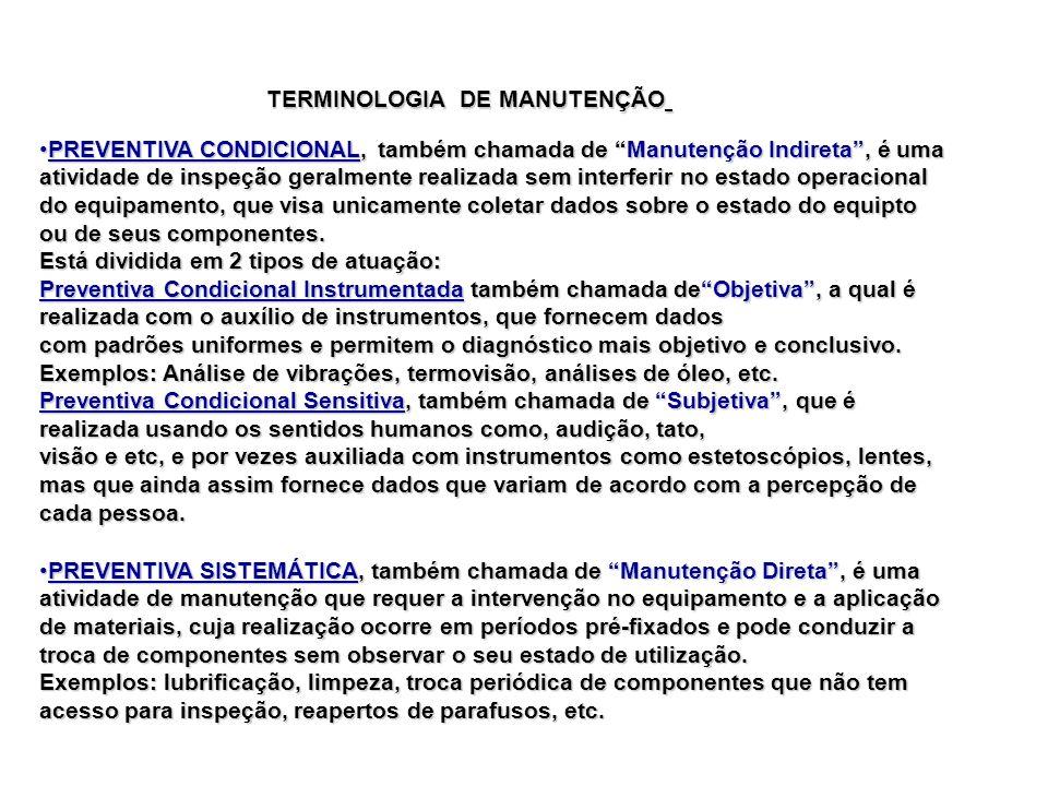 TERMINOLOGIA DE MANUTENÇÃO