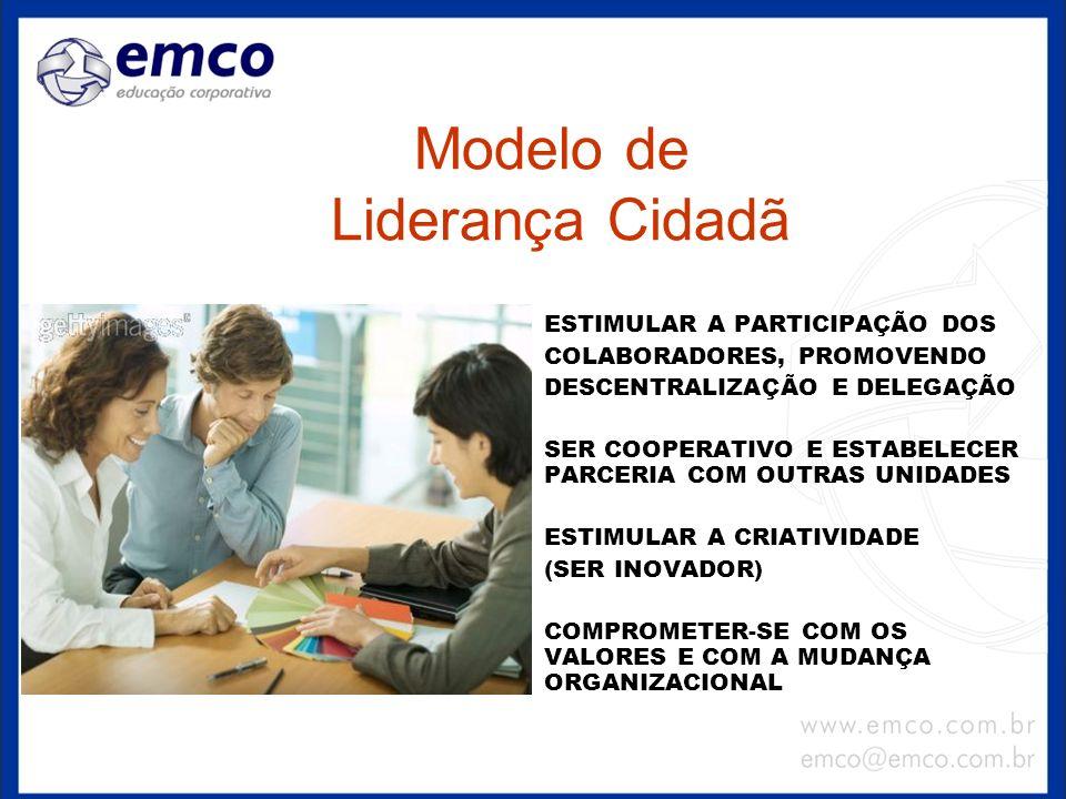 Modelo de Liderança Cidadã ESTIMULAR A PARTICIPAÇÃO DOS