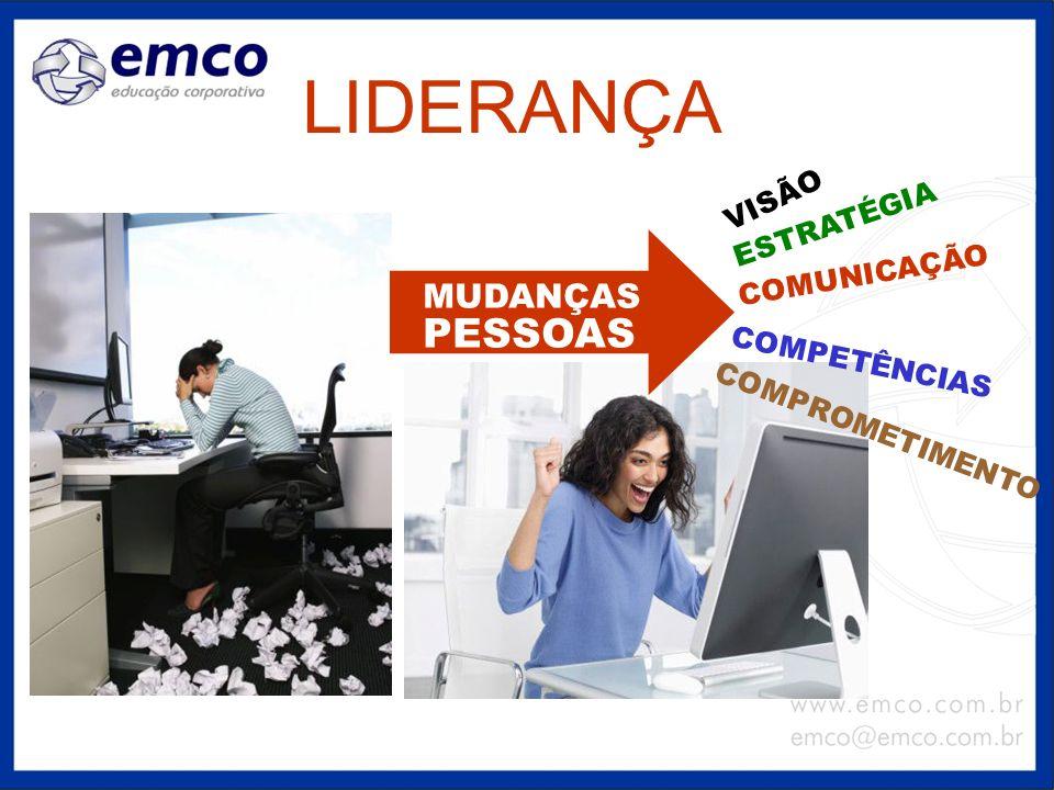 LIDERANÇA PESSOAS MUDANÇAS VISÃO ESTRATÉGIA COMUNICAÇÃO COMPETÊNCIAS