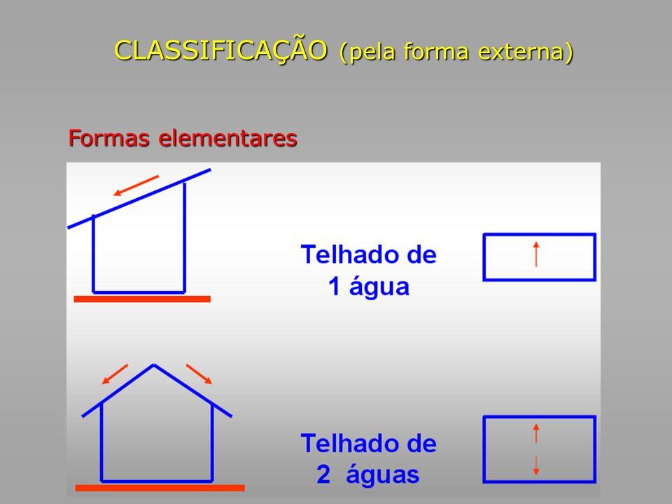 CLASSIFICAÇÃO (pela forma externa)