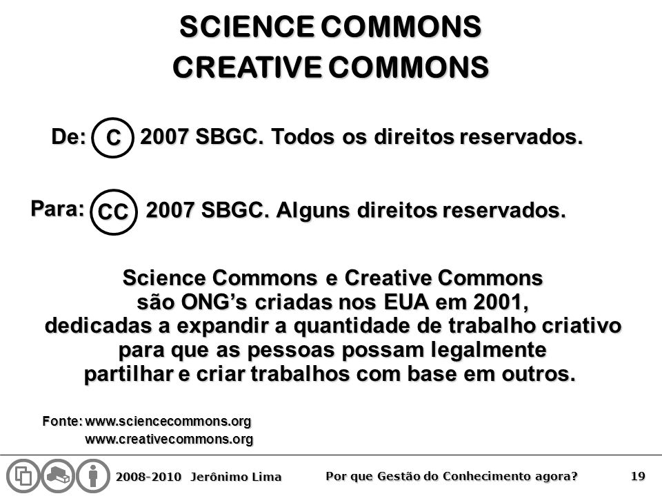 SCIENCE COMMONS CREATIVE COMMONS