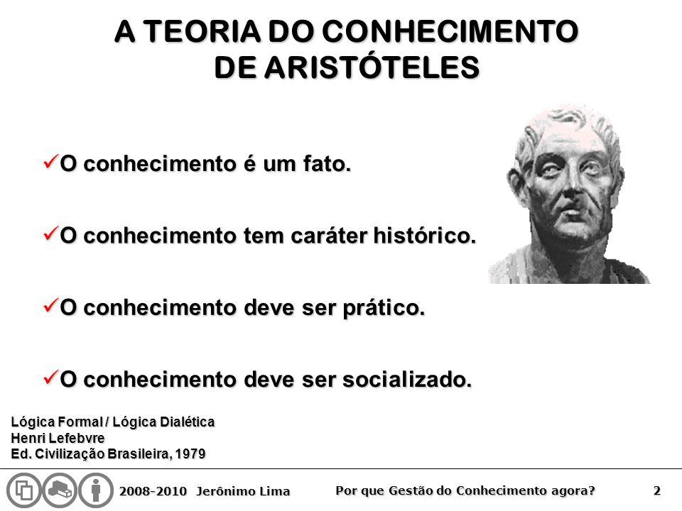 A TEORIA DO CONHECIMENTO
