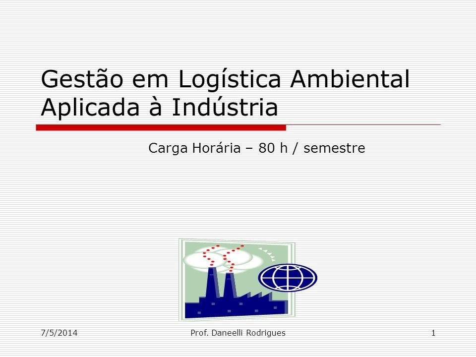 Gestão em Logística Ambiental Aplicada à Indústria