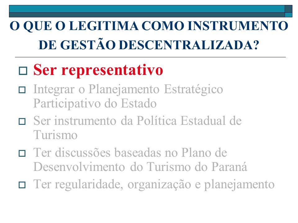 O QUE O LEGITIMA COMO INSTRUMENTO DE GESTÃO DESCENTRALIZADA