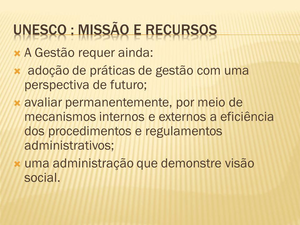 UNESCO : Missão e Recursos