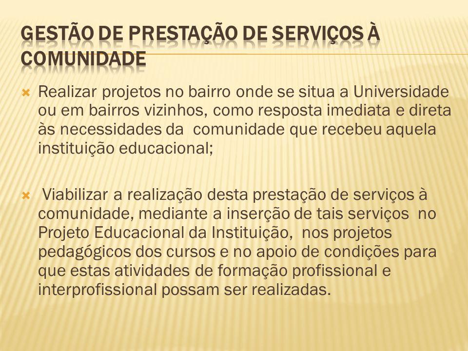 gestão de prestação de serviços à comunidade