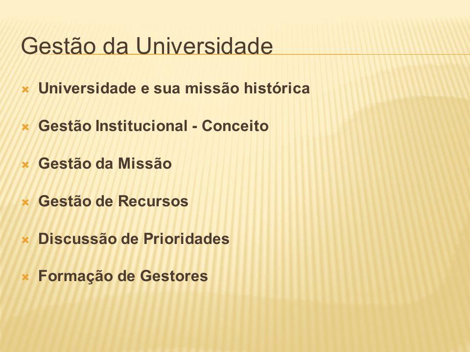 Gestão da Universidade