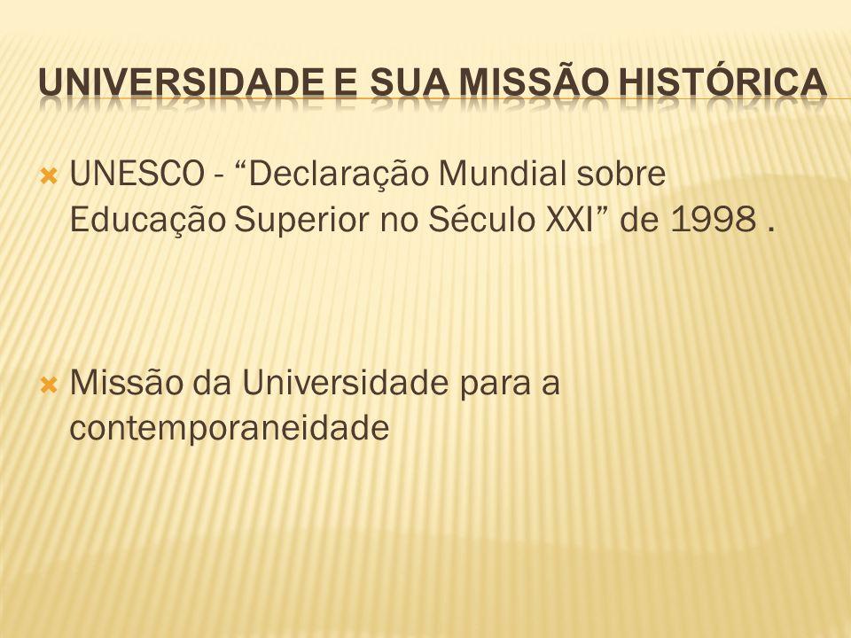 Universidade e sua missão histórica