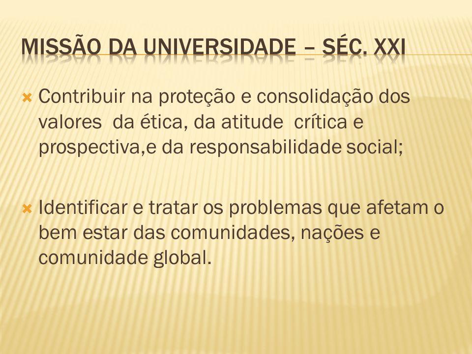 Missão da universidade – séc. xxi