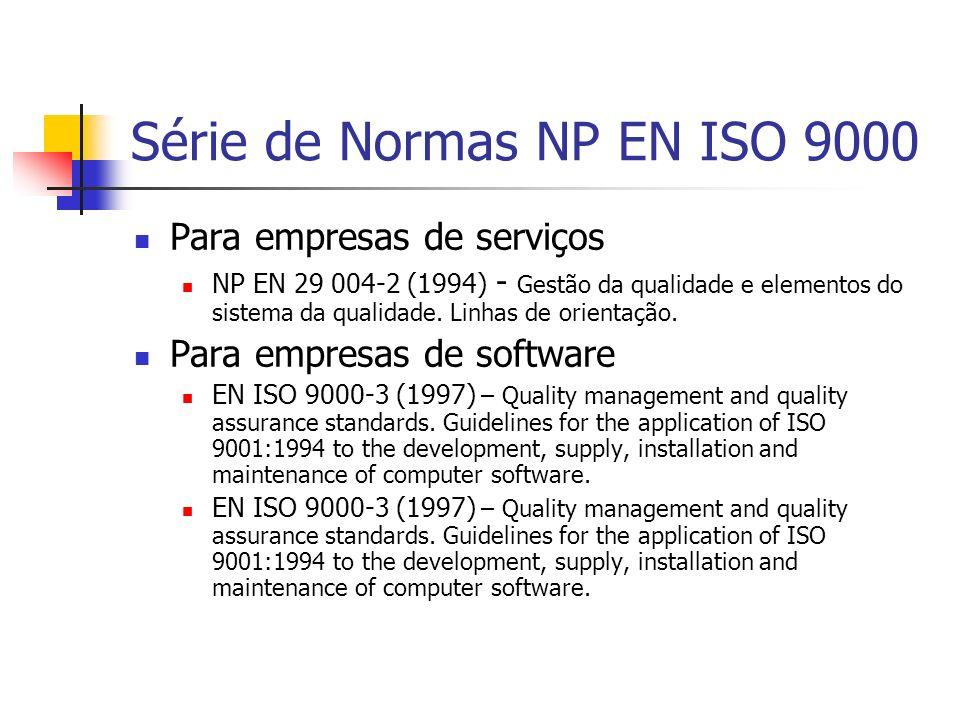 Série de Normas NP EN ISO 9000