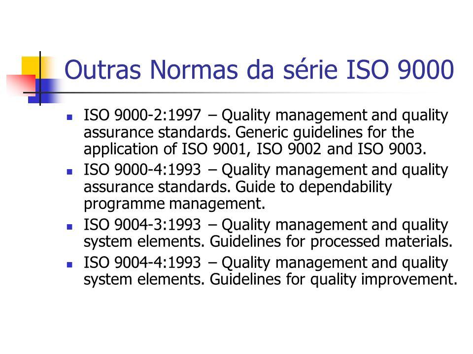 Outras Normas da série ISO 9000