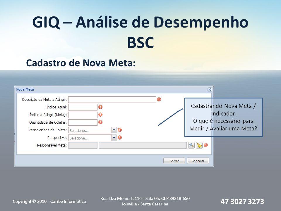 GIQ – Análise de Desempenho BSC
