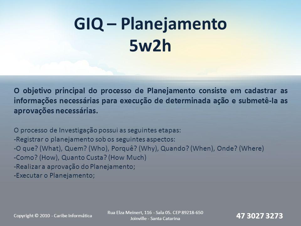 GIQ – Planejamento 5w2h