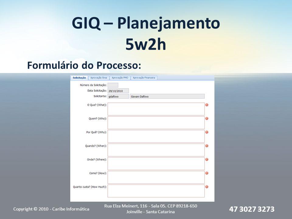 Formulário do Processo: