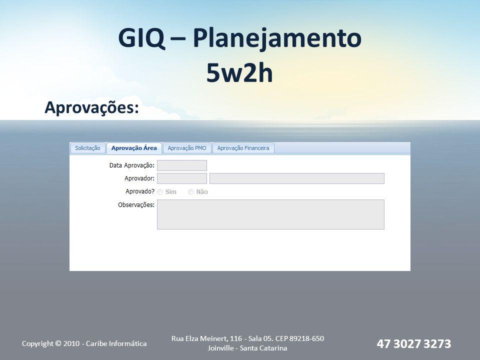 GIQ – Planejamento 5w2h Aprovações: 47 3027 3273