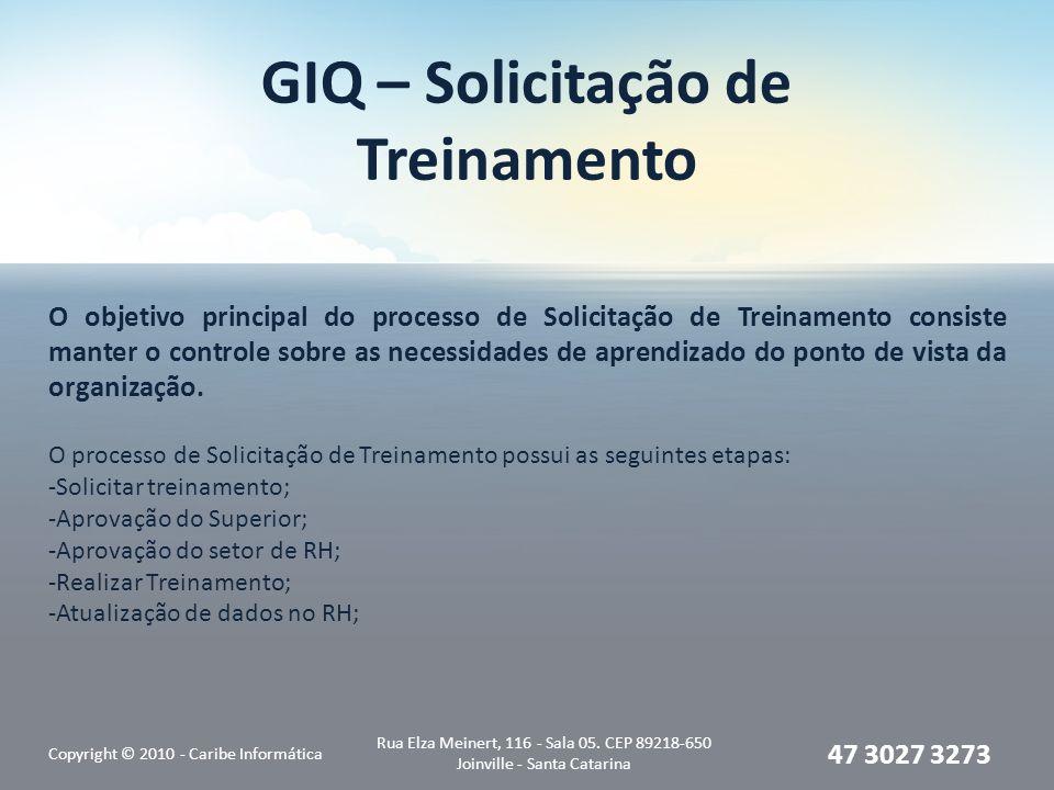 GIQ – Solicitação de Treinamento