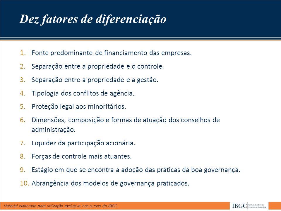 Dez fatores de diferenciação