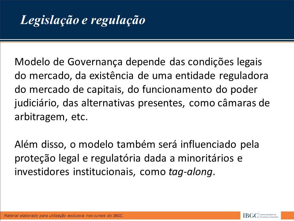 Legislação e regulação