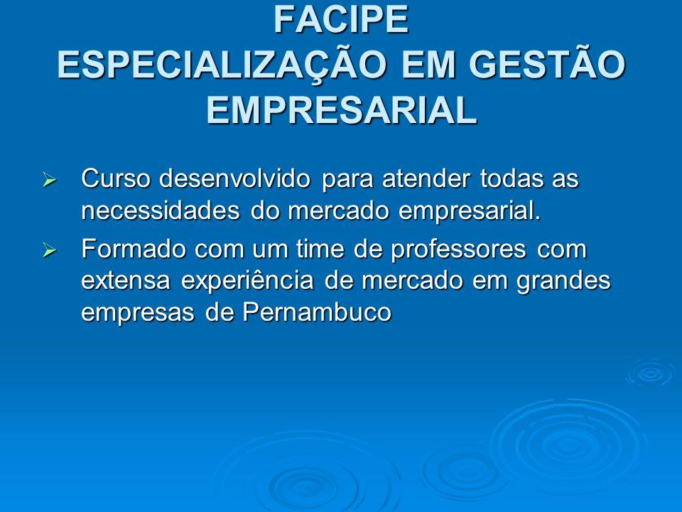 FACIPE ESPECIALIZAÇÃO EM GESTÃO EMPRESARIAL