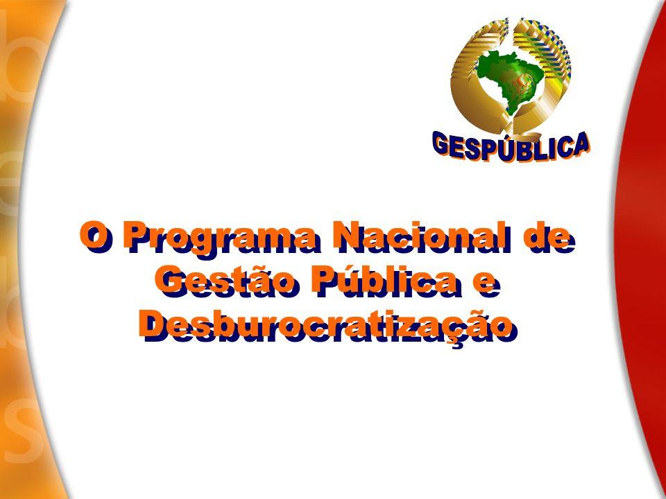 O Programa Nacional de Gestão Pública e Desburocratização