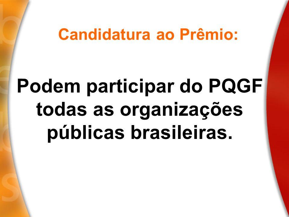 Candidatura ao Prêmio: Podem participar do PQGF