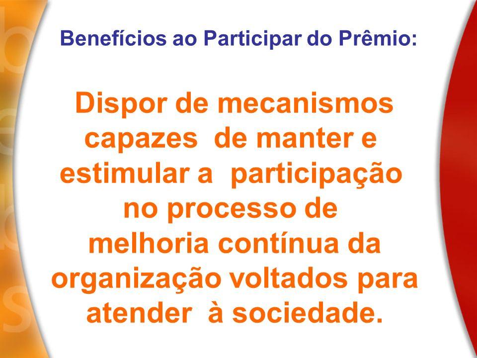 estimular a participação no processo de melhoria contínua da