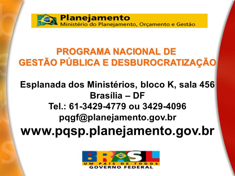 www.pqsp.planejamento.gov.br PROGRAMA NACIONAL DE