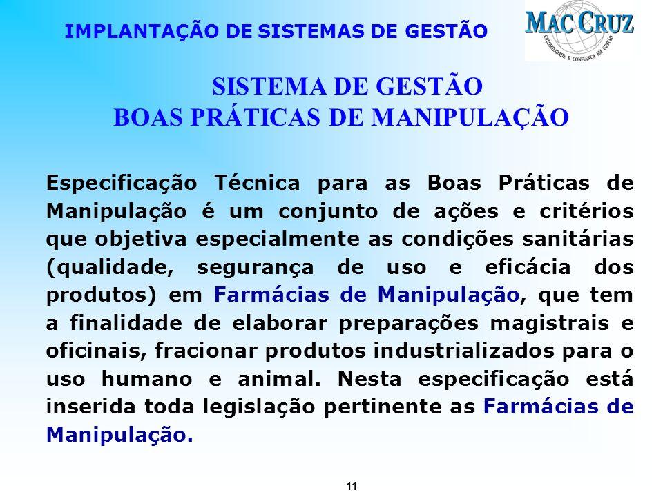 SISTEMA DE GESTÃO BOAS PRÁTICAS DE MANIPULAÇÃO