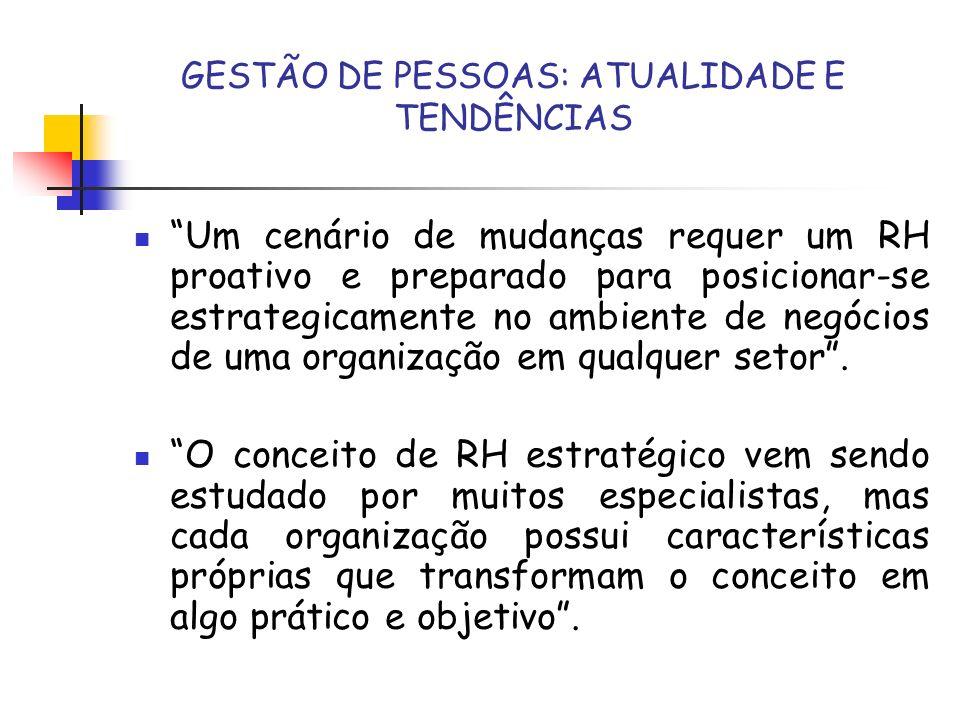 GESTÃO DE PESSOAS: ATUALIDADE E TENDÊNCIAS